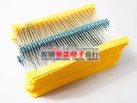 1/4W 30 Kind Metal Film Resistors Assorted kit 1% Each 20 Total 600pcs/pack( 10R-1MR)+Free Shipping