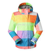 free shippping, 2015 d'hiver vestes de ski snowboard femmes sportives combinaison de ski imperméable chaud épais outwear vêtements respirant(China (Mainland))