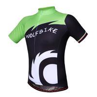 WOLFBIKE Sports Brand Running Cycling Jersey Bike Bicycle Short Sleeves Clothing T-Shirt Shirt Cycle Wear