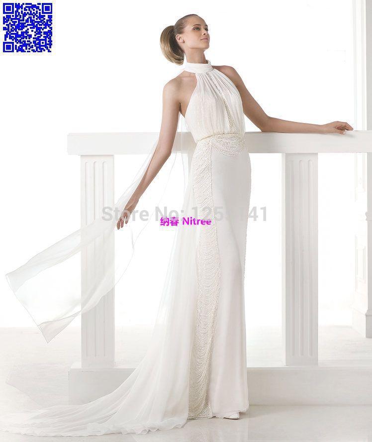 2015Nitree Fashion Collection Unique Sexy Vintage Luxury Designer Celebrity Romantic Wedding Dresses Bridal Gowns Chiffon 2015(China (Mainland))