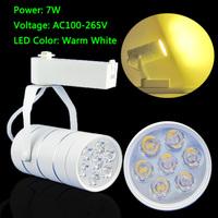 Free shipping 7W 630LM Pure White/Warm White LED Track Rail Spot Light Shop Background light
