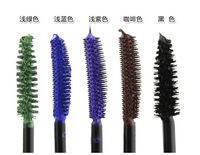 500pcs/lot  ! Music Flower Mascara Color Waterproof Curling Long Lash Thick Cosplay Macara 5 Color Free Shipping