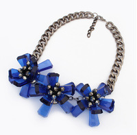 The trend of retro punk personalities flower necklace jewelry wholesale manufacturers3 pieces one lot SC-24