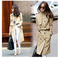 2015 Autumn Korean style  female students spring and Leisure coat women's Trench Three kinds of wearing