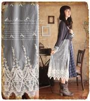 Forest mori style retro vintage lace dress long design lace cardigan brandy melville dresses cute lolita girl vestido oncinha