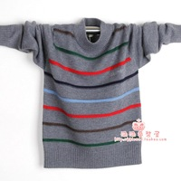Qiu dong outfit new boy children's sweater cashmere sweater knit sweater children cuhk stripe
