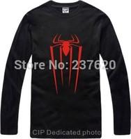 Free shipping spiderman t-shirt super hero spiderman tee long sleeve T shirt  brand tee 100% cotton 6 color