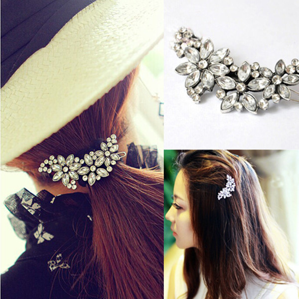 Bridal Wedding Flower Crystal Rhinestone Headband Hair Clip Comb Pin Diamante(China (Mainland))