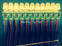 100pcs DC12V 12mm WS2811 led smart pixel node,non-waterproof;without pvc case;IP33