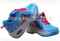 Free shipping 2015 new automatic models Heelys shoe flash boy / girl roller shoes cartoon explosion models Heelys