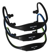Free shipping High-definition Sport Running MP3 earphone USB Music Player Wireless Headphones