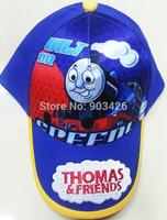 Free Shipping!50pcs/Lot !New Arrival Thomas & Friends Baseball Caps Cartoon Children Visors Sun Hat for Boys G049 Wholesale