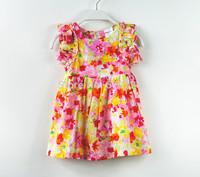 New 2014 Children Summer Clothing Girls' Dresses Baby Girls Dress Cute Floral Summer Dress Summer Wear For Kids