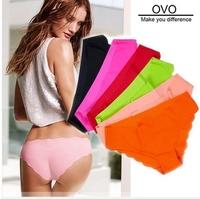 2014 Ms. underwear Seamless underwear Ms. fluorescent candy colored silk ice a seamless slim low waist briefs M-L 15Color