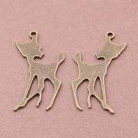 2015 Fashion Metal Deer Pendant Women's Alloy Jewelry Deer Charms 50pcs/bag