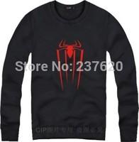 Free shipping Kids Cartoon Spiderman logo print clothes Unisex sweatshirt Spiderman hoodie fleece hoodies clothing 8 color