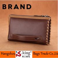 B.King New Business Famous Brand Men Clutch Wallets , Long Style Zipper Leather Men Clutch Handbags , Unique Carteira Masculina