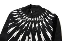Free Shipping New Arrival Neil Barre Lightning sweater  zipper fleece Pullover thick sweatshirt lovers design sweater Size S-XL