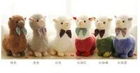 free shipping 30cm bowtie Alpaca plush toy gift p3069