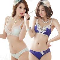 New embroidered bra set adjustable bra women underwear bra set gather anti emptied Korea Women bra set