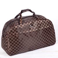 Fashion Nylon Oxford Men's Travel Bags Women Large Capacity Plaid Outdoor Weekend Bag Brand Men Travel Duffle Shoulder Bag 2014