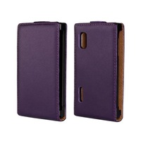 2014 New Flip Leather Case For LG Optimus L5 E610 E612 Cover Cell Phone Cases