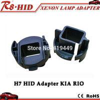 2 Pcs H7 HID Xenon Bulbs Adapters Holders For Kia Rio Hyundai Azera HID Installation Replacement Plastic Base