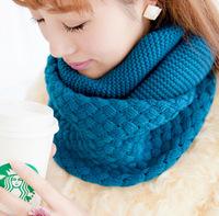 Sleeve head scarf Korean female winter warm winter wool scarf Women neckerchief wholesale unisex cross twist X551