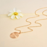 30 Piece-N136 New Fashion Swirl necklace,Simple spiral necklace For Women,best gift -Free shipping