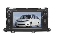 Toyota Sienna / XL30 2013 Car DVD with GPS,Bluetooth,ipod,PIP,Games,Dual Zone,Steering Wheel Control