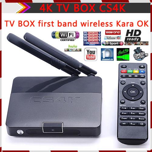 CS4K Android TV Box RK3288 Quad Core Cortex-A764 2.0GHz 2G/8G 802.11ac 2.4/5GHz WiFi H.265 4Kx2K XBMC Smart TV Supports flash(China (Mainland))