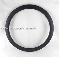 FULLFUN 50mm 28mm wide Clincher Disc Brake Carbon Rims 700C Wheels Road Bike Full Carbon UD Matte One Piece U Shape Fixed Gear