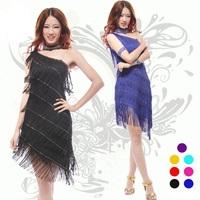 Sexy Milk-Fiber Female Red Spandex Comfortable Rayon Tassel Latin Salsa Dress Ballroom Dance Wear Clothing Set for Girls LD014