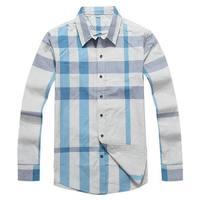 New arrival men 2014 autumn long cotton shirt classic london designer male plaid shirt casual fashion wear 10 models