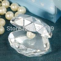 Big Wholesales+Choice Crystal Clamshell Baby Shower Favors Crystal Gift+80pcs/lot+FREE SHIPPING