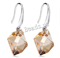 Free shipping!!!Austrian Crystal Drop Earring,Wholesale 2014 Jewelry, sterling silver earring hook, platinum plated, faceted