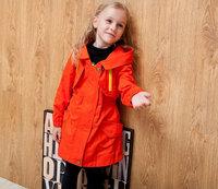 Joker wear fall clothes girls coat hooded trench coat, children cotton tendon waist coats, free shipping