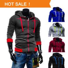 2014 Autumn Winter Fleece Cardigan Men Hoodies Jacket Fashion Brand Hoodie Man Casual Slim Sweatshirt Sportswear Zipper Hoodie