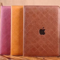 Luxury Leather Wallet With Bracket Tablet PC Case for iPad Air Case Cover Christmas Gift Free Shipping