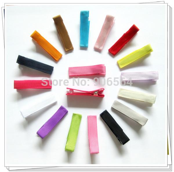 """300pcs 1.25""""/32mm DIY hair Accessory clips Baby girl Ribbon Hair Bows Clip Ribbon Lined Alligator Hair Clips 16 colors 14120107(China (Mainland))"""