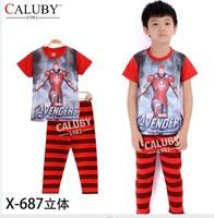 pajama clothes set fashion summer olaf cartoon solid cotton kids baby boys girls children pajamas clothing sets X-687