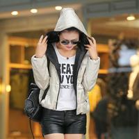 2015 Euro-Stars New Fashion Winter Coat Women Warm Down Parka Slim Winter Jacket Women Hooded Down Jacket