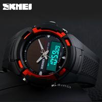 SKMEI Solar Energy Men's Wristwatches Solar Power LED Digital Quartz Waterproof Sport Watches Outdoor Men Boy's Military Watch