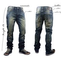 Free Shipping  Jeans Men Skinny Ripped Slim Fit Jeans Size 28-38 Drop Shipping leisure ripped jeans for men