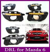 LED Daytime Running Light For MAZDA 6 DRL Daylight Auto DRL Car Fog Lamp Free Shipping
