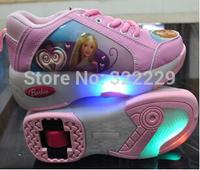 Heelys ( wholesale + retail ) high- quality children's cartoon flash Heelys roller shoes