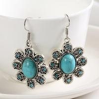 Min order is $10(mix order)New arrivel Hot Sell Fashion Womens Bohemian national Geometric flower Drop Earrings Jewelry