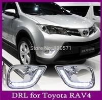 New LED DRL Daytime Running Light For Toyota RAV4,RAV 4 Fog Lamp DRL 2013 2014 free shipping