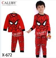 X-672 pajamas clothes sets fashion cartoon elsa anna olaf kids baby girls children pajamas clothing sets spring autumn clothes