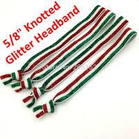 Christmas Glitter Knotted Elastic Headband Yoga Sport Headband Free Shipping